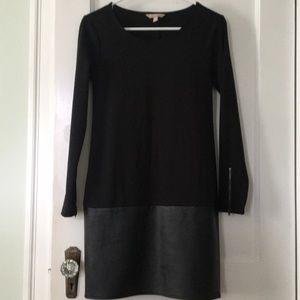 Banana Republic Black Leather Bottom Dress